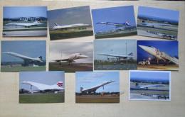 CXR SST Supersonic Lot 11 Carte Postcard Concorde Mucho Avion Aiplane Air France British Exeter - 1946-....: Era Moderna