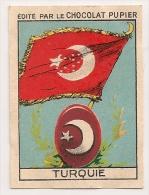 "Image Page 21 De L´album ""L´Europe"". 1933. Chocolat Pupier. Turquie. Drapeau, Blason Armoiries - Schokolade"
