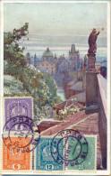 _5Pk969: N°143+146+147+163/ NA KARLOVE MOSTE : PRAG 1  21 VI.18 + Cebsuur: FREIGEGEBEN..mil Post.... > Antwerpen Belgien - ...-1918 Vorphilatelie