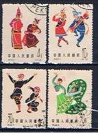 VRC+ China Volksrepublik 1963 Mi 720 722 724-25 Volkstänze - 1949 - ... République Populaire