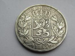 België 5 Francs 1853 - 1831-1865: Léopoldo I
