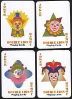 #108 Clown Malaysia 4 Playing Card Joker Jeu De Cartes - Cartes à Jouer Classiques