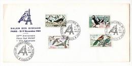 FDC - Salon Des Oiseaux - Paris 15/11/1969 - Vanneau, Sarcelle, Macareux, Guêpier  - Anniversaire Prince Paul Murat - 1960-1969