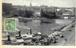 _5Pk953: N°123 : Stockholm, Riksdagshuset: STOCKHOLM 1 9-9-32 AVG LBR > Antwerpen Belgien - Suède