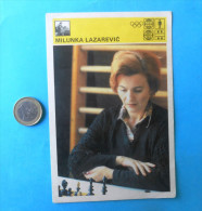 MILUNKA LAZAREVIC  ( Yugoslavia Vintage Card Svijet Sporta ) Chess Echecs Ajedrez Schach Scacchi Check Shah - Echecs