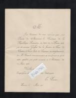 VP1650 - Faire - Part - Nomination D'un Nouveau Greffier De La Justice De Paix Mr E. POIRIER à  SAUMUR - Faire-part