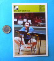 DRAGUTIN SURBEK - Table Tennis ( Yugoslavia Old Card Svijet Sporta ) Tennis De Table Ping Pong Tenis De Mesa Tischtennis - Table Tennis
