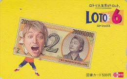 Carte Prépayée Japon - JEU LOTO - PIECE DE MONNAIE  - MONEY COIN  Japan LOTTO Tosho Card - MÜNZE - 91 - Timbres & Monnaies