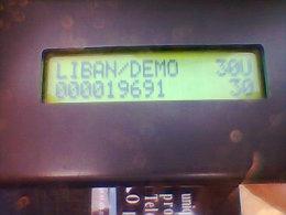 Lebanon - Schlumberger Multi Application, Demo Card, 30U, Mint, 3 Scans