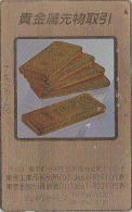 Télécarte Dorée Japon - MONNAIE - LINGOT D´OR / CREDIT SUISSE - MONEY GOLD INGOT Japan Phonecard SCHWEIZ - COIN 100 - Timbres & Monnaies