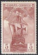 Spain SG596 1930 Columbus 5c Mounted Mint - Unused Stamps