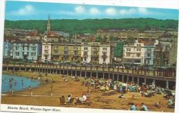 Cp , Angleterre , WESTON SUPER MARE , Marine Beach , C4R , Voyagée - Weston-Super-Mare