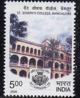 India MNH 2009, St. Joseph´s College, Bangalore, Education, Christianity Cross Symbol - Inde