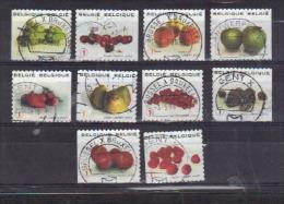 Volledig Boekje Fruit Uit 2007 (OBP 3685 T/m 3694) - Belgio