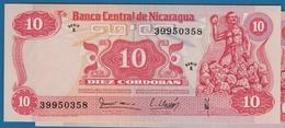 NICARAGUA 10 Córdobas  16.08.1979  Serie E   39950358   P#134  UNC - Nicaragua