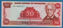 NICARAGUA 50 Córdobas  1985  Serie FB 1493471   P#153 - Nicaragua
