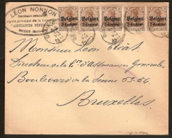 Brief  / Envelope Met Afstempeling Van OBAIX - BUZET +  CENSUUR / CENSURE  (staat Zie Scan) ! Inzet Aan 25 € ! - Invasion
