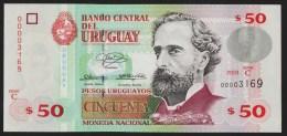 URUGUAY 50 Pesos Uruguayos  2003  Serie C  No 00003169   P# 84  UNC   José Pedro Varela - Uruguay