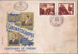YUGOSLAVIA - JUGOSLAVIA - CINEMA - BR. LUMIERES - MOVIE CAMERA  - FDC - 1995 - Cinema