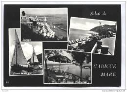 GABICCE MARE - PESARO - 1956 - SALUTI CON 4 VEDUTINE - Pesaro