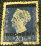 Indonesia 1948 Queen Wilhelmina 20c - Used - Indonesia