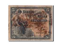 [#306443] Congo Belge, 5 Francs Type 1941-50, Cinquiéme Émission - 1944 - Belgian Congo Bank
