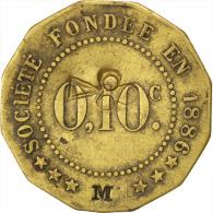 """[#85446] Châlons-sur-Marne, Société De Consommation, 10 Centimes """"M"""", Elie 25.2var - Monetari / Di Necessità"""