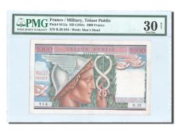 France, Trésor Public, 1000 Francs, 1955, KM:M12a, PMG VF30 - Treasury