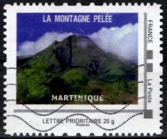 FRANCE Montimbramoi personalized stamp Piton de la Fournaise Volcan mountain vulcano Vulkan vulkaan Volcano