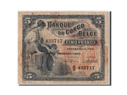 [#306446] Congo Belge, 5 Francs Type 1941-50, Sixiéme Émission - 1947 - Belgian Congo Bank