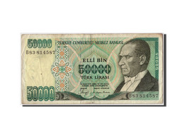 Turquie, 50 000 Lira Type Atatürk - Turkije