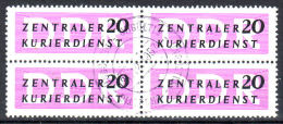 Mi-Nr. 9, Zentraler Kurierdienst, Gestempelt Ungültig 31.12.1957 Im 4er-Block, Los 26936 - Service