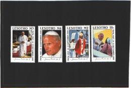 Lesotho N°784-787  (MNH) ** - Visite Du Pape Jean-Paul II (1988) - Lesotho (1966-...)