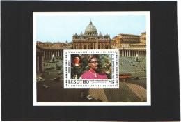 Lesotho Bloc N°55  (MNH) ** - Visite Du Pape Jean-Paul II (1988) - Lesotho (1966-...)