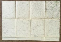 STAFKAART CARTE D ETAT MAJOR Sit 1911 POPERINGE PROVEN WATOU HAZEBROUCK WORMHOUT STEENVOORDE ARQUES CAESTRE METEREN S362 - Carte Topografiche
