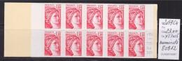 = Sabine De Gandon Carnet 2059-C4 Ouvert Neuf  1f30 Rouge  Code Postal Numéroté 80912 - Usage Courant