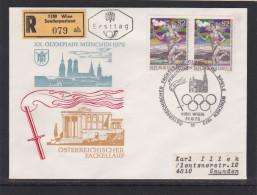 Olympiade München Österreichischer Fackellauf Reco Ersttag FDC 21.8.1972 - Sommer 1972: München