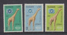 Sudan 1967 Giraffe 3v ** Mnh (21516A) - Soedan (1954-...)