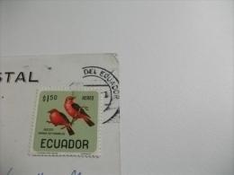 STORIA POSTALE FRANCOBOLLO COMMEMORATIVO UCCELLI ECUADOR  MONUMENTO EN LA LINEA ECUATORIAL CALACALI ECUADOR - Ecuador