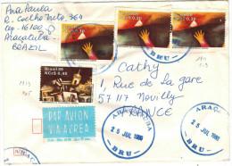 BRASILE - BRASIL - 1989 - Via Aerea - Par Avion - Air Mail - 4 X Bicentenario Da Inconfidencia Da Mineira - Viaggiata... - Brasile