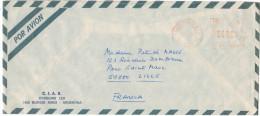 ARGENTINA - 1990 - Air Mail - EMA, Red Cancel 04800 - Viaggiata Da Buenos Aires Per Lille, France - Affrancature Meccaniche/Frama