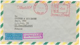BRASILE - BRASIL - 1969 - Via Aerea - Par Avion - Air Mail - EMA, Red Cancel 0,65 Klingler S.A. - Viaggiata Da Sao Pa... - Franking Labels