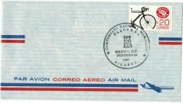 MESSICO - MEXICO - 1992 - Air Mail - Correo Aereo - Mexico Exporta - Bicicletas -  Campeonado Nacional Masculino, Cla... - Schaken