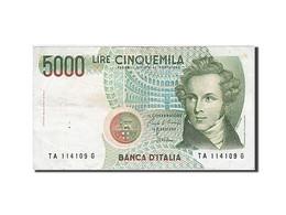 Italie, 5000 Lire, Type V. Bellini - [ 2] 1946-… : Repubblica
