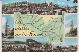 Moselle :  Carte  Géographique : La Vallée De La  Fensch ; Hayange, Fontoy , Florange, Thionville, Etc..... 1966 - Unclassified