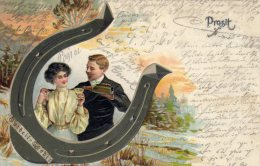 "CPA  GAUFREE     ALLEMAGNE---PROSIT---ETIQETTE"" GUTHEIL-GCHIBER "" ?---1906 - Illustrateurs & Photographes"