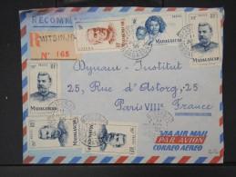 FRANCE- MADAGASCAR - Enveloppe En Recommandée De Mitsinjo Pour Paris En 1955 Lot P4329 - Madagascar (1889-1960)