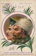 GUERRE 1914-18 - RUSSIA - LES ALLIÉS -RUSSIE D'EUROPE-RUSSIE D'ASIE Sont Côte à Côte Sous Le Glorieux étendard Des Tsars - Guerra 1914-18