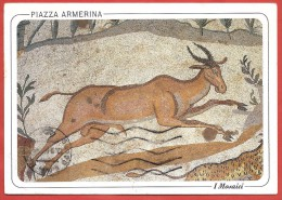 CARTOLINA VG ITALIA - PIAZZA ARMERINA (EN) Mosaici - Antilope - 10 X 15 - ANNULLO 2000 - Firenze (Florence)