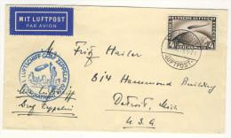 Deutsches Reich Michel No. 424 auf Brief Zeppelin Amerikafahrt 1929